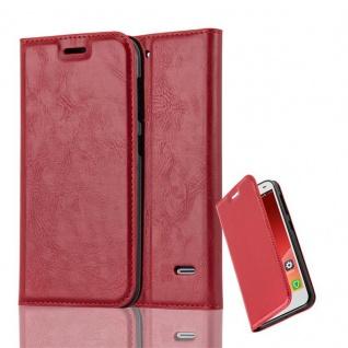 Cadorabo Hülle für ZTE BLADE S6 in APFEL ROT Handyhülle mit Magnetverschluss, Standfunktion und Kartenfach Case Cover Schutzhülle Etui Tasche Book Klapp Style