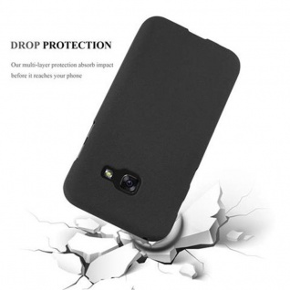 Cadorabo Hülle für Samsung Galaxy A5 2017 in FROST SCHWARZ - Handyhülle aus flexiblem TPU Silikon - Silikonhülle Schutzhülle Ultra Slim Soft Back Cover Case Bumper - Vorschau 4