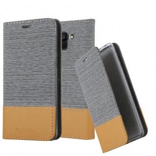 Cadorabo Hülle für Samsung Galaxy J6 2018 in HELL GRAU BRAUN - Handyhülle mit Magnetverschluss, Standfunktion und Kartenfach - Case Cover Schutzhülle Etui Tasche Book Klapp Style