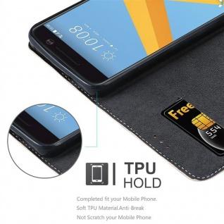 Cadorabo Hülle für HTC 10 (One M10) in ROSÉ GOLD SCHWARZ ? Handyhülle mit Magnetverschluss, Standfunktion und Kartenfach ? Case Cover Schutzhülle Etui Tasche Book Klapp Style