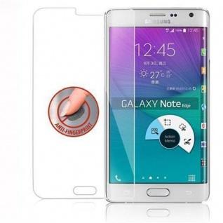 Cadorabo Panzer Folie für Samsung Galaxy S6 EDGE - Schutzfolie in KRISTALL KLAR - Gehärtetes (Tempered) Display-Schutzglas in 9H Härte mit 3D Touch Kompatibilität