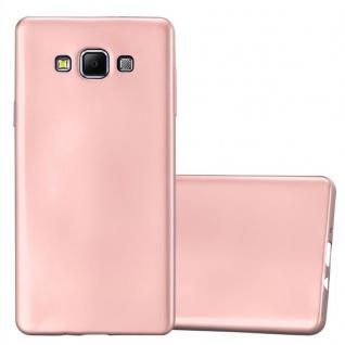 Cadorabo Hülle für Samsung Galaxy A7 2015 in METALLIC ROSÉ GOLD - Handyhülle aus flexiblem TPU Silikon - Silikonhülle Schutzhülle Ultra Slim Soft Back Cover Case Bumper