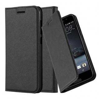 Cadorabo Hülle für HTC One A9 in NACHT SCHWARZ - Handyhülle mit Magnetverschluss, Standfunktion und Kartenfach - Case Cover Schutzhülle Etui Tasche Book Klapp Style