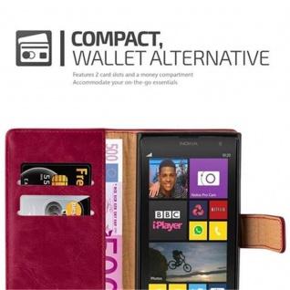 Cadorabo Hülle für Nokia Lumia 1020 in WEIN ROT - Handyhülle mit Magnetverschluss, Standfunktion und Kartenfach - Case Cover Schutzhülle Etui Tasche Book Klapp Style - Vorschau 3