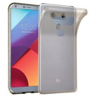 Cadorabo Hülle für LG G6 in TRANSPARENT SCHWARZ - Handyhülle aus flexiblem TPU Silikon - Silikonhülle Schutzhülle Ultra Slim Soft Back Cover Case Bumper