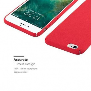 Cadorabo Hülle für Apple iPhone 6 / iPhone 6S in FROSTY ROT - Hardcase Handyhülle aus Plastik gegen Kratzer und Stöße - Schutzhülle Bumper Ultra Slim Back Case Hard Cover - Vorschau 3