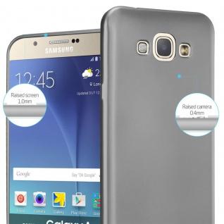 Cadorabo Hülle für Samsung Galaxy A8 2015 in METALLIC GRAU - Handyhülle aus flexiblem TPU Silikon - Silikonhülle Schutzhülle Ultra Slim Soft Back Cover Case Bumper - Vorschau 4
