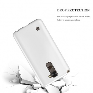 Cadorabo Hülle für LG Stylus 2 in METALLIC SILBER - Handyhülle aus flexiblem TPU Silikon - Silikonhülle Schutzhülle Ultra Slim Soft Back Cover Case Bumper - Vorschau 3