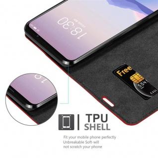 Cadorabo Hülle für MEIZU 16s in APFEL ROT - Handyhülle mit Magnetverschluss, Standfunktion und Kartenfach - Case Cover Schutzhülle Etui Tasche Book Klapp Style - Vorschau 4