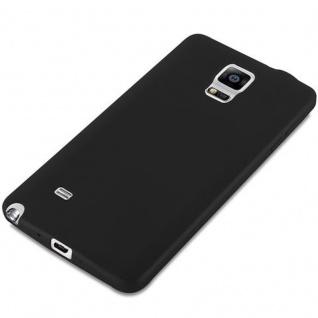Cadorabo Hülle für Samsung Galaxy NOTE 4 in CANDY SCHWARZ - Handyhülle aus flexiblem TPU Silikon - Silikonhülle Schutzhülle Ultra Slim Soft Back Cover Case Bumper - Vorschau 4