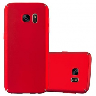 Cadorabo Hülle für Samsung Galaxy S7 in METALL ROT ? Hardcase Handyhülle aus Plastik gegen Kratzer und Stöße ? Schutzhülle Bumper Ultra Slim Back Case Hard Cover