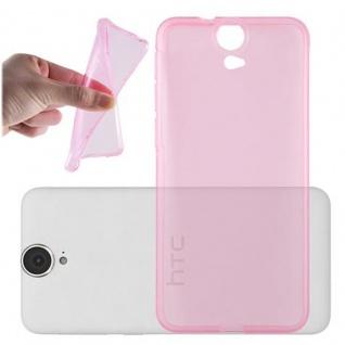 Cadorabo Hülle für HTC ONE E9 - Hülle in TRANSPARENT PINK ? Handyhülle aus TPU Silikon im Ultra Slim 'AIR' Design - Ultra Slim Soft Backcover Case Bumper