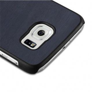 Cadorabo Hülle für Samsung Galaxy S6 in WOODY BLAU ? Hardcase Handyhülle aus Plastik gegen Kratzer und Stöße ? Schutzhülle Bumper Ultra Slim Back Case Hard Cover - Vorschau 4