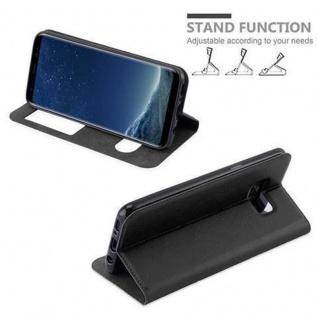 Cadorabo Hülle für Samsung Galaxy S8 in KOMETEN SCHWARZ - Handyhülle mit Magnetverschluss, Standfunktion und 2 Sichtfenstern - Case Cover Schutzhülle Etui Tasche Book Klapp Style - Vorschau 5