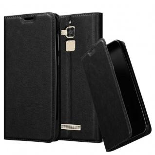 Cadorabo Hülle für Asus ZenFone 3 MAX (5, 2 Zoll) in NACHT SCHWARZ - Handyhülle mit Magnetverschluss, Standfunktion und Kartenfach - Case Cover Schutzhülle Etui Tasche Book Klapp Style