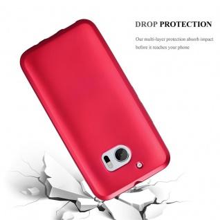 Cadorabo Hülle für HTC 10 (One M10) in METALLIC ROT - Handyhülle aus flexiblem TPU Silikon - Silikonhülle Schutzhülle Ultra Slim Soft Back Cover Case Bumper - Vorschau 3