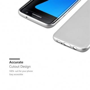 Cadorabo Hülle für Samsung Galaxy S7 EDGE in METALLIC SILBER - Handyhülle aus flexiblem TPU Silikon - Silikonhülle Schutzhülle Ultra Slim Soft Back Cover Case Bumper - Vorschau 2