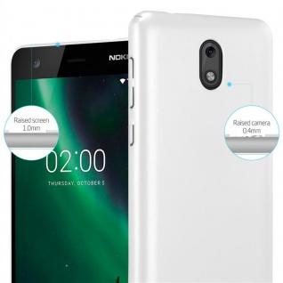 Cadorabo Hülle für Nokia 2 2017 in METALL SILBER ? Hardcase Handyhülle aus Plastik gegen Kratzer und Stöße ? Schutzhülle Bumper Ultra Slim Back Case Hard Cover - Vorschau 4