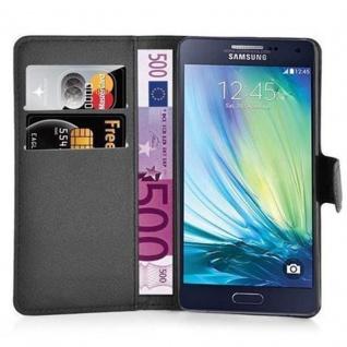 Cadorabo Hülle für Samsung Galaxy A3 2015 in PHANTOM SCHWARZ - Handyhülle mit Magnetverschluss, Standfunktion und Kartenfach - Case Cover Schutzhülle Etui Tasche Book Klapp Style