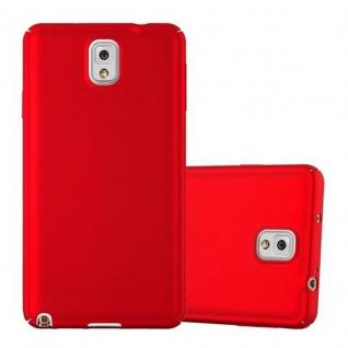 Cadorabo Hülle für Samsung Galaxy NOTE 3 - Hülle in METALL ROT ? Hardcase Handyhülle im Matt Metal Design - Schutzhülle Bumper Back Case Cover