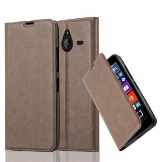 Cadorabo Hülle für Nokia Lumia 640 XL in KAFFEE BRAUN - Handyhülle mit Magnetverschluss, Standfunktion und Kartenfach - Case Cover Schutzhülle Etui Tasche Book Klapp Style