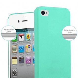 Cadorabo Hülle für Apple iPhone 4 / iPhone 4S in FROSTY GRÜN - Hardcase Handyhülle aus Plastik gegen Kratzer und Stöße - Schutzhülle Bumper Ultra Slim Back Case Hard Cover - Vorschau 5