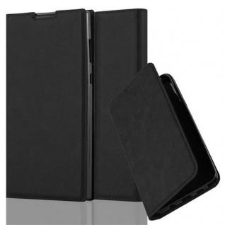Cadorabo Hülle für Sony Xperia L1 in NACHT SCHWARZ Handyhülle mit Magnetverschluss, Standfunktion und Kartenfach Case Cover Schutzhülle Etui Tasche Book Klapp Style