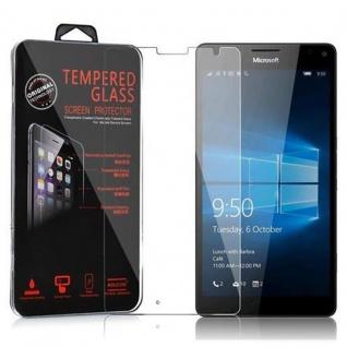 Cadorabo Panzerglas für Nokia Lumia 950 XL - Schutzfolie in KRISTALL KLAR ? Gehärtetes (Tempered) Display-Schutzglas in 9H Härte mit 3D Touch Kompatibilität