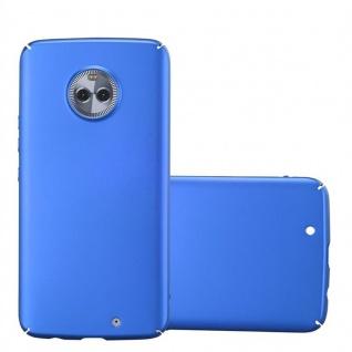 Cadorabo Hülle für Motorola MOTO X4 in METALL BLAU - Hardcase Handyhülle aus Plastik gegen Kratzer und Stöße - Schutzhülle Bumper Ultra Slim Back Case Hard Cover