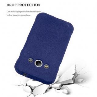 Cadorabo Hülle für Samsung Galaxy XCover 3 in FROST DUNKEL BLAU - Handyhülle aus flexiblem TPU Silikon - Silikonhülle Schutzhülle Ultra Slim Soft Back Cover Case Bumper - Vorschau 4