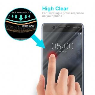 Cadorabo Panzer Folie für Nokia 5.1 2018 - Schutzfolie in KRISTALL KLAR - Gehärtetes (Tempered) Display-Schutzglas in 9H Härte mit 3D Touch Kompatibilität - Vorschau 5