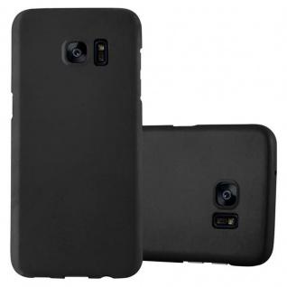 Cadorabo Hülle für Samsung Galaxy S7 EDGE in METALL SCHWARZ - Hardcase Handyhülle aus Plastik gegen Kratzer und Stöße - Schutzhülle Bumper Ultra Slim Back Case Hard Cover