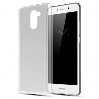 Cadorabo Hülle für Huawei Enjoy 7 Plus in VOLL TRANSPARENT - Handyhülle aus flexiblem TPU Silikon - Silikonhülle Schutzhülle Ultra Slim Soft Back Cover Case Bumper