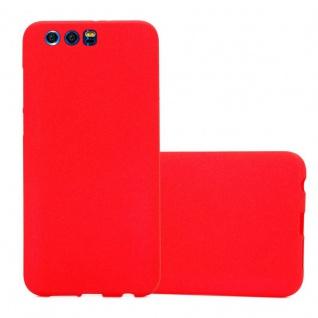 Cadorabo Hülle für Honor 9 in FROST ROT - Handyhülle aus flexiblem TPU Silikon - Silikonhülle Schutzhülle Ultra Slim Soft Back Cover Case Bumper