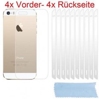 Cadorabo Displayschutzfolien für Apple iPhone 5 / 5S - Schutzfolien in HIGH CLEAR ? 4x Front- und 4x Rückseiten Schutzfolie - Vorschau 2