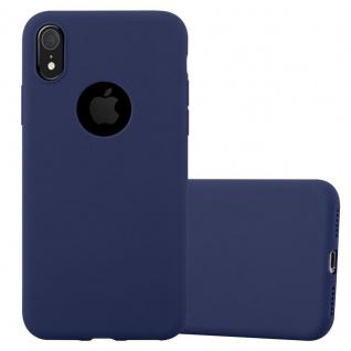 Cadorabo Hülle für Apple iPhone XR in CANDY DUNKEL BLAU - Handyhülle aus flexiblem TPU Silikon - Silikonhülle Schutzhülle Ultra Slim Soft Back Cover Case Bumper
