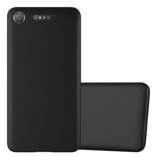Cadorabo Hülle für Sony Xperia XZ1 in METALLIC SCHWARZ - Handyhülle aus flexiblem TPU Silikon - Silikonhülle Schutzhülle Ultra Slim Soft Back Cover Case Bumper