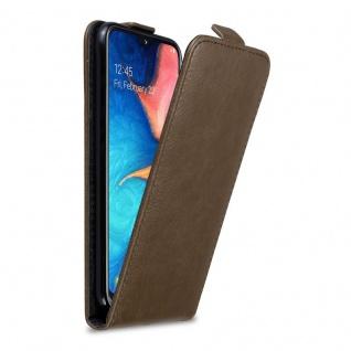 Cadorabo Hülle für Samsung Galaxy A20e in KAFFEE BRAUN - Handyhülle im Flip Design mit Magnetverschluss - Case Cover Schutzhülle Etui Tasche Book Klapp Style