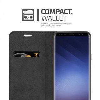 Cadorabo Hülle für Samsung Galaxy S9 in APFEL ROT Handyhülle mit Magnetverschluss, Standfunktion und Kartenfach Case Cover Schutzhülle Etui Tasche Book Klapp Style - Vorschau 5