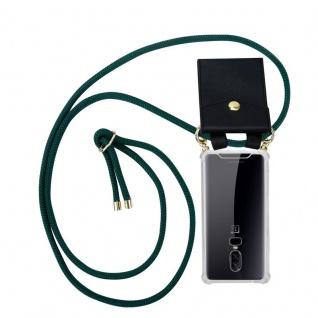 Cadorabo Handy Kette für OnePlus 6 in ARMEE GRÜN Silikon Necklace Umhänge Hülle mit Gold Ringen, Kordel Band Schnur und abnehmbarem Etui Schutzhülle