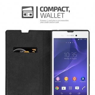 Cadorabo Hülle für Sony Xperia T3 in APFEL ROT Handyhülle mit Magnetverschluss, Standfunktion und Kartenfach Case Cover Schutzhülle Etui Tasche Book Klapp Style - Vorschau 5
