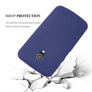 Cadorabo Hülle für Motorola MOTO G2 in FROST DUNKEL BLAU - Handyhülle aus flexiblem TPU Silikon - Silikonhülle Schutzhülle Ultra Slim Soft Back Cover Case Bumper - Vorschau 4