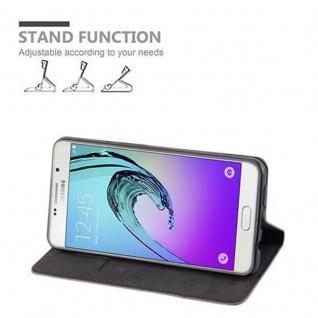 Cadorabo Hülle für Samsung Galaxy A7 2016 in KAFFEE BRAUN - Handyhülle mit Magnetverschluss, Standfunktion und Kartenfach - Case Cover Schutzhülle Etui Tasche Book Klapp Style - Vorschau 3