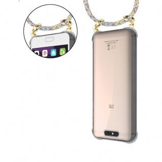 Cadorabo Handy Kette für ZTE Blade V8 in RAINBOW - Silikon Necklace Umhänge Hülle mit Gold Ringen, Kordel Band Schnur und abnehmbarem Etui ? Schutzhülle - Vorschau 5
