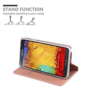 Cadorabo Hülle für Samsung Galaxy NOTE 3 in CLASSY ROSÉ GOLD - Handyhülle mit Magnetverschluss, Standfunktion und Kartenfach - Case Cover Schutzhülle Etui Tasche Book Klapp Style - Vorschau 4