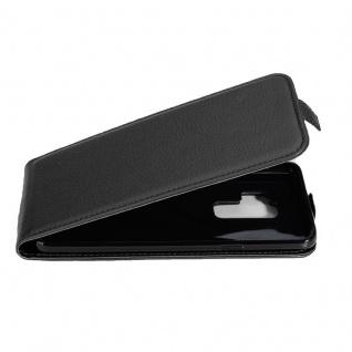 Cadorabo Hülle für Samsung Galaxy S9 PLUS in OXID SCHWARZ - Handyhülle im Flip Design aus strukturiertem Kunstleder - Case Cover Schutzhülle Etui Tasche Book Klapp Style