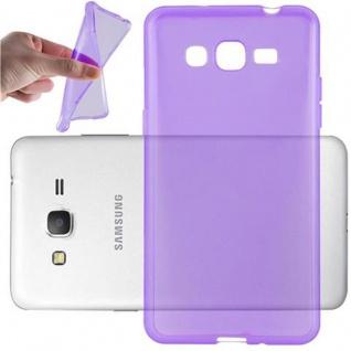 Cadorabo Hülle für Samsung Galaxy GRAND PRIME - Hülle in TRANSPARENT LILA ? Handyhülle aus TPU Silikon im Ultra Slim 'AIR' Design - Ultra Slim Soft Backcover Case Bumper