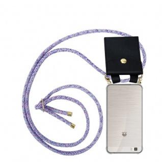 Cadorabo Handy Kette für Huawei P8 LITE 2015 in UNICORN - Silikon Necklace Umhänge Hülle mit Gold Ringen, Kordel Band Schnur und abnehmbarem Etui ? Schutzhülle