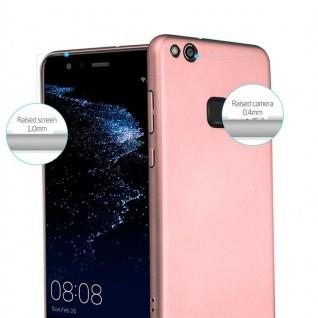 Cadorabo Hülle für Huawei P10 LITE in METALL ROSÉ GOLD - Hardcase Handyhülle aus Plastik gegen Kratzer und Stöße - Schutzhülle Bumper Ultra Slim Back Case Hard Cover - Vorschau 2