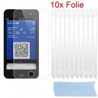 Cadorabo Displayschutzfolien für Apple iPod Touch 5 - Schutzfolien in HIGH CLEAR ? 10 Stück hochtransparenter Schutzfolien gegen Staub, Schmutz und Kratzer